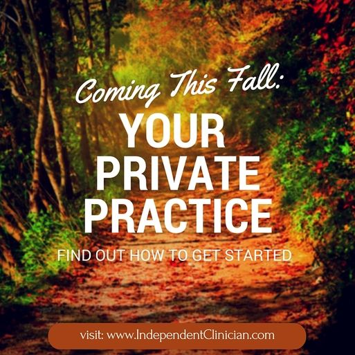 Want to start your own private therapy practice this fall? Here's how to get started: https://www.independentclinician.com/blog/coming-this-fall-start-your-own-private-therapy-practice
