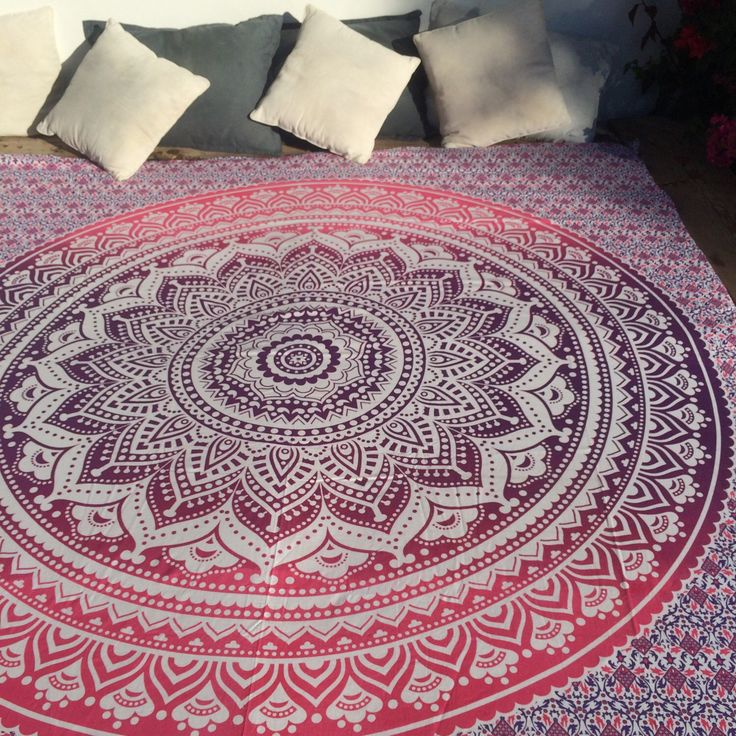 A personal favourite from my Etsy shop https://www.etsy.com/listing/255568767/bohemian-mandala-bed-throw-in-blissfull
