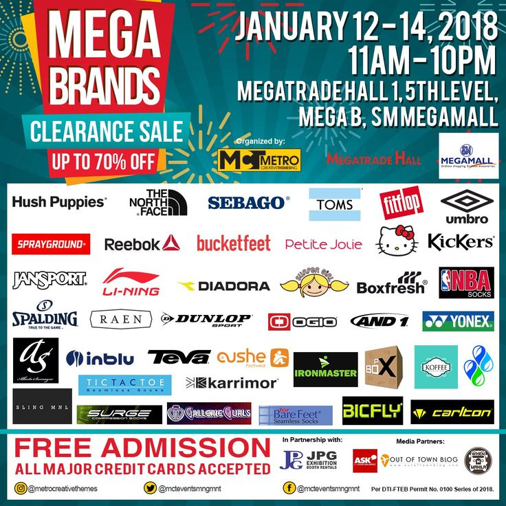 Up to 70% Off @ the Mega Brands Clearance Sale. CLICK HERE for more details: https://dealspinoy.com/up-to-70-off-the-mega-brands-clearance-sale/ #DealsPinoy
