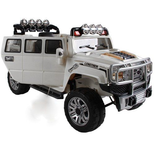 new 2015 big extended edition hummer style kids ride on power wheels battery remote control toy car white
