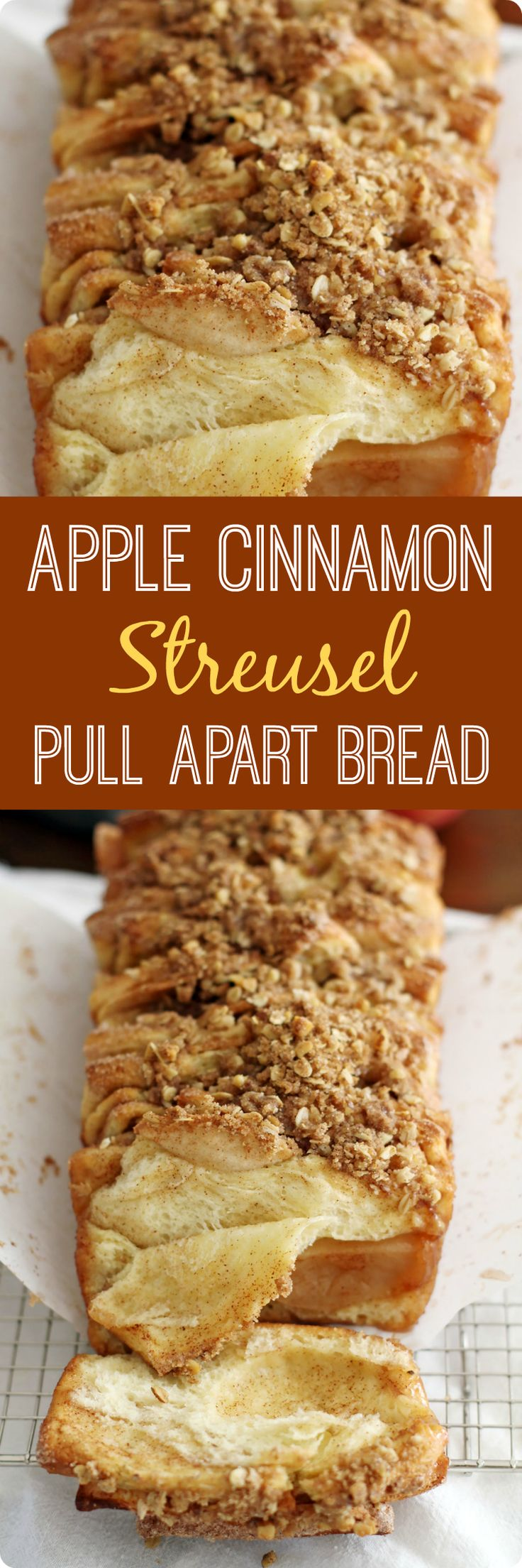 This Apple Cinnamon Streusel Pull-Apart Bread combines fresh apples, melted butter and a sweet cinnamon-sugar filling tucked between slices of soft bread. With a crumbly, sugary streusel to top it off, it's a deliciously comforting fall baking recipe you'll want to make for you, your family and your friends again and again. Find recipe at redstaryeast.com.