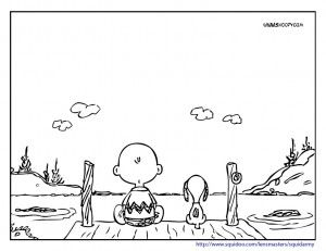 charlie brown and snoopy coloring pages