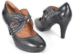 Clarks Indigo Shoes 63118 Black Leather Mary Jane Strap Platform Pumps on eBay