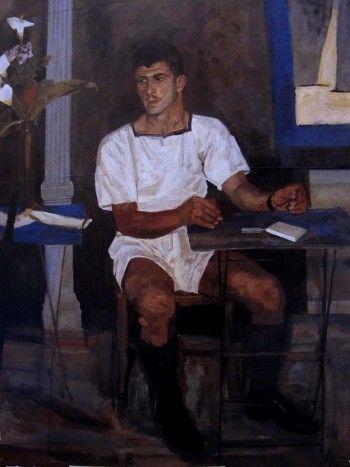 The forgotten garrison (detail), 1957 by Yannis Tsarouchis.
