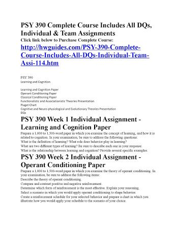 psy 390 operant conditioning paper A response for question operant conditioning paper psy 390  recently asked question university: +6 essays for past 24 hour operant conditioning paper psy 390.