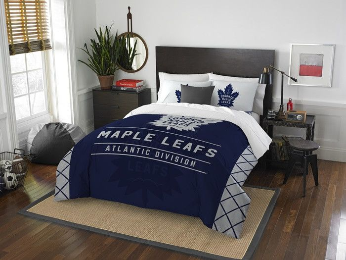 Toronto Maple Leafs NHL Draft Full-Queen Comforter Set. Includes 2 Shams and Comforter. Visit SportsFansPlus.com for Details.
