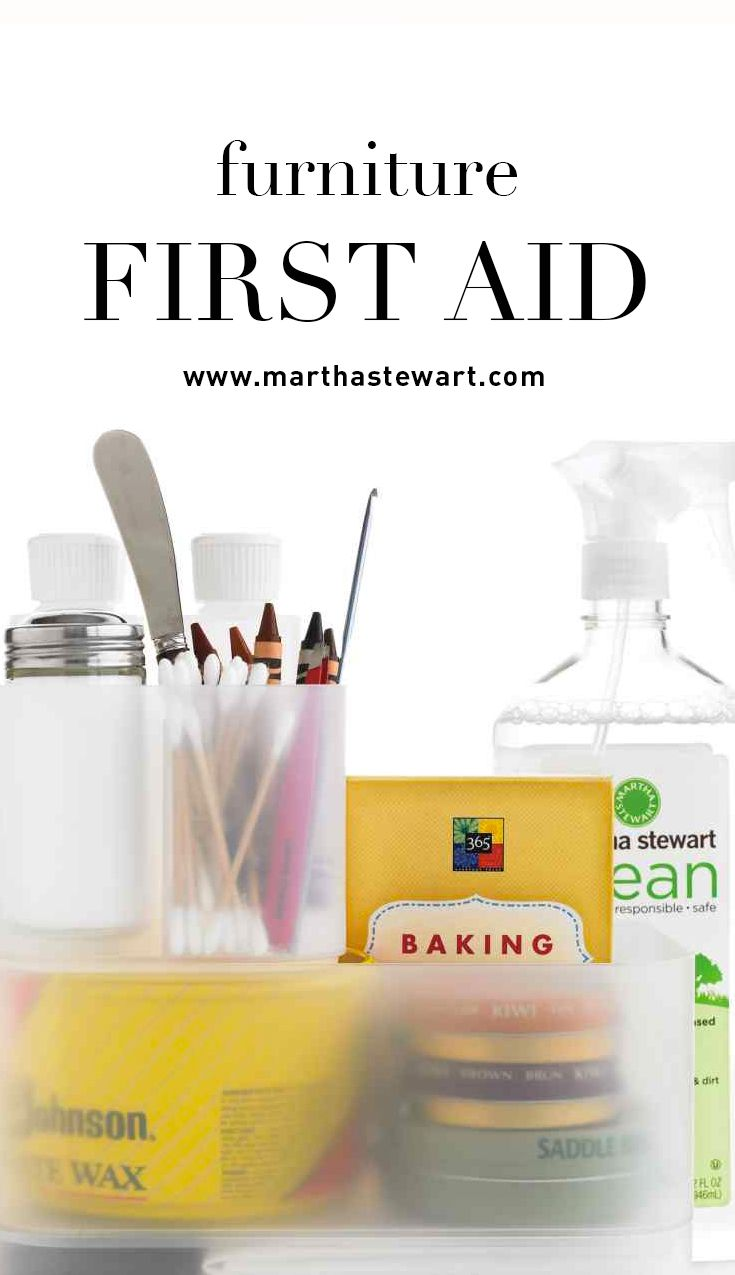 Furniture First Aid Aid Kit Martha Stewart And Housekeeping