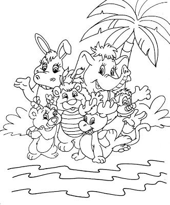 cute animals wuzzles coloring pages to kids