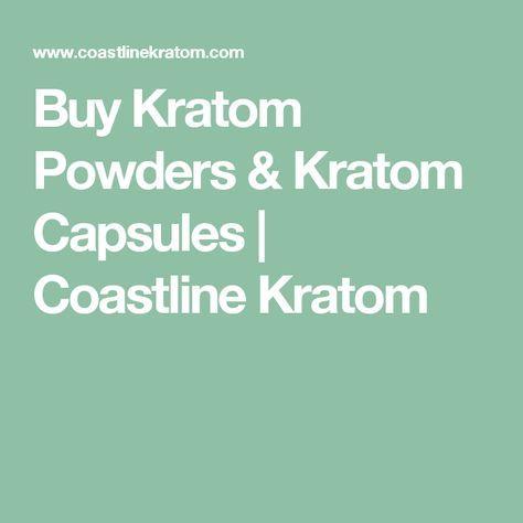 Buy Kratom Powders & Kratom Capsules | Coastline Kratom