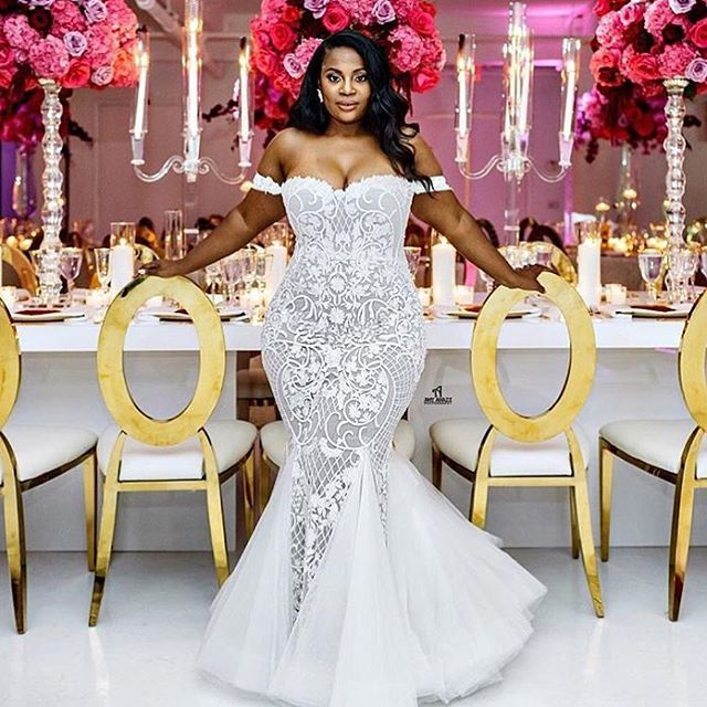 We've had brides ask us pricing to make a replica of this plus size wedding gown.  Our pricing is way more affordable than you may think.  We do not know the price or designer of the original.  But we can make a custom wedding dress that is inspired by this design that will look extremely similar but also be very affordable.  We can make custom #weddingdresses based on ny picture you have or love from the internet.  Contact us for pricing  and details on our process at www.dariuscordell.com