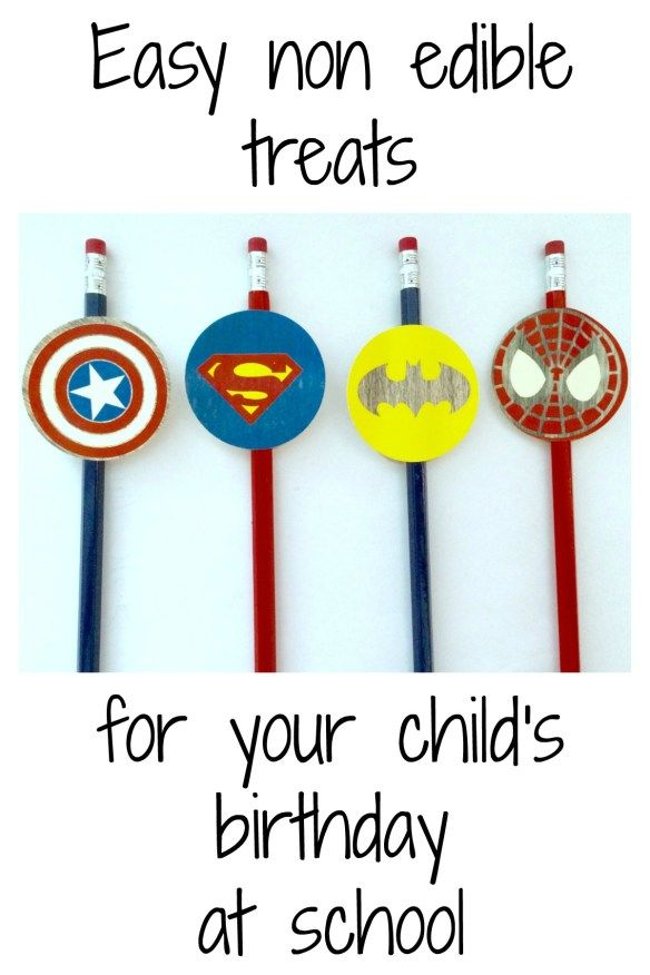 Easy DIY non-edible treats to hand out at school for a child's birthday