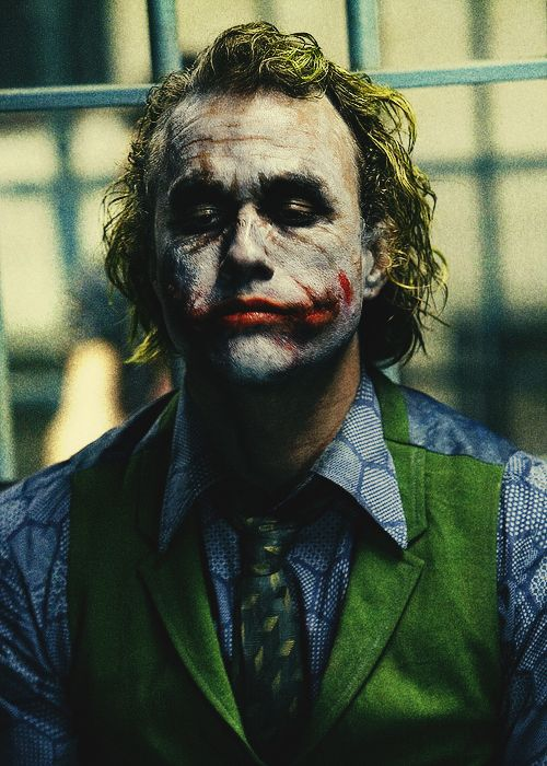 heath ledger as the joker/ that what am talk about /batman come after Joke man that was cold blood movies !