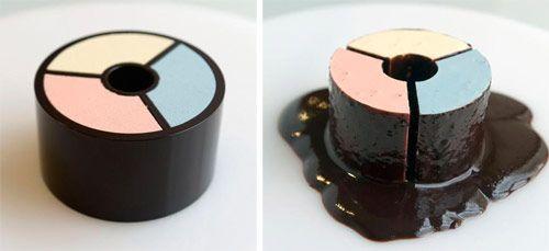 Ice Cream in Melting Chocolate Mold