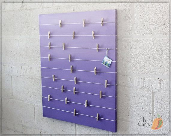 Hey, I found this really awesome Etsy listing at https://www.etsy.com/listing/254831646/bulletin-board-memo-holder-purple-ombre