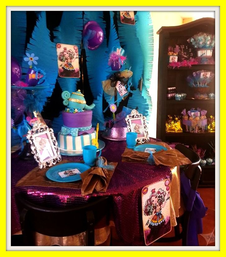 DECORACION FIESTA EVER AFTER HIGH
