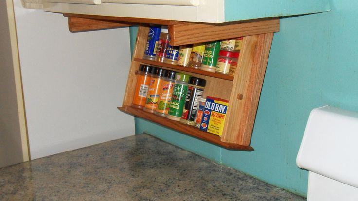 10 best images about kitchen spice storage on pinterest for Under cabinet storage racks