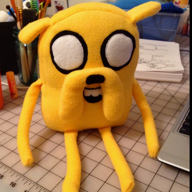 Finished Jake with bean bag arms and legs