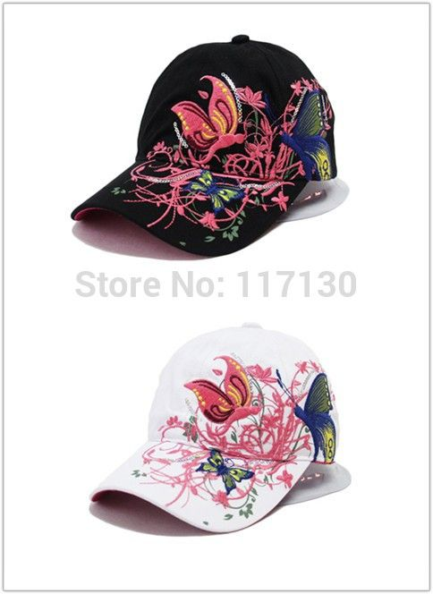 Find More Information about 2014 New Fashion spring and summer butterfly embroidery Colorful flower women's sun shading Baseball Cap  Women Hip Hop Hat,High Quality hats for big head,China hat for baby girl Suppliers, Cheap hat beach from Yiwu Market Export Co.,LTD on Aliexpress.com