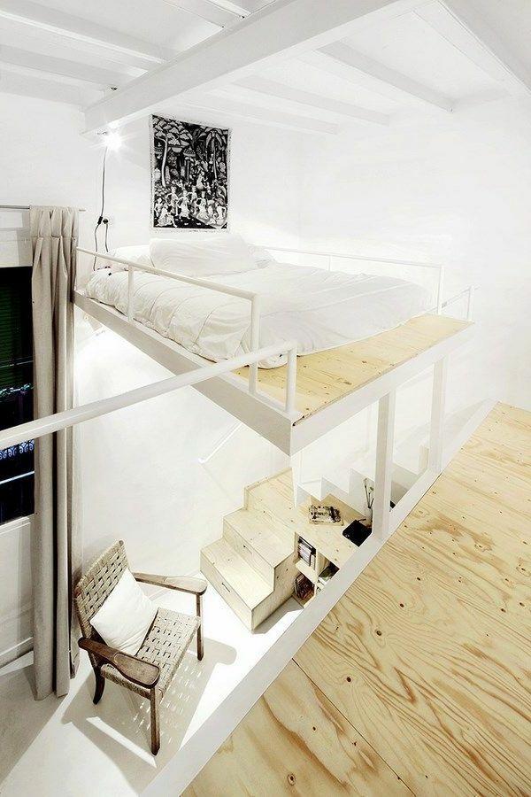 Modernes Schlafzimmer Hochbett Mit Treppe Interior Design Ideen