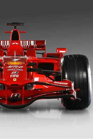 Ferrari del año 2007 con el que ganó su único título mundial Kimi Räikkönen.