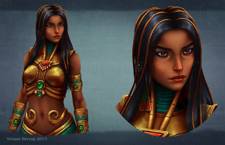Egyptian Queen, Viviane Herzog on ArtStation at https://www.artstation.com/artwork/egyptian-queen-75e9ce3b-408b-4b3c-a1a6-b97c5a91d690
