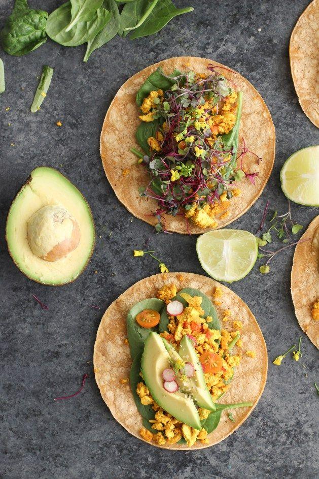 Vegan Breakfast Tacos with Tofu Scramble
