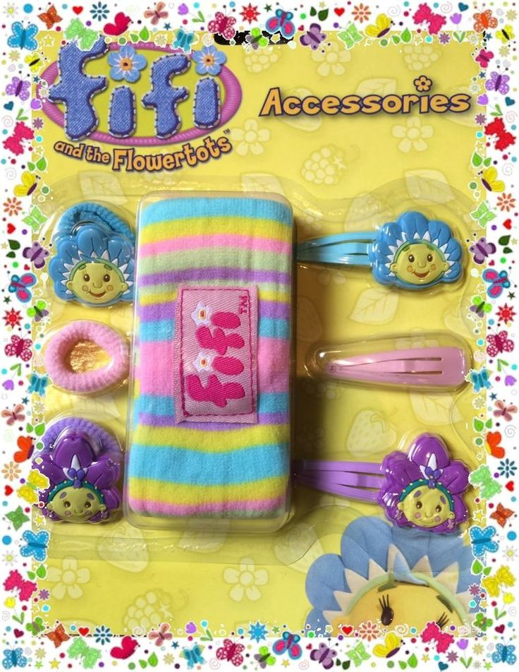Fifi and the Flowertots Party Supplies Giftware - Hair Accessories 7pce Set