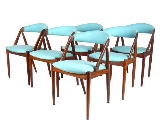 Danish Modern Kai Kristiansen Chairs Model 31 Chairs Teak