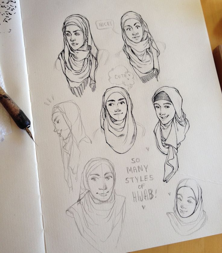 I was interested in drawing a Muslim chick wearing a hijab so I started looking up tutorials on how to wrap a hijab and omygod I was totally unaware of the fact that there's so many different styles of wrapping and god it's so fucking beautiful The way people came up with different folds that look so pleasing to the eye, it's fantastic. Haha so here's my drawings of different hijab wrapping styles I found on Internet, the finished inkwork is on my Instagram (@hjeojeo), I think I'm going to…