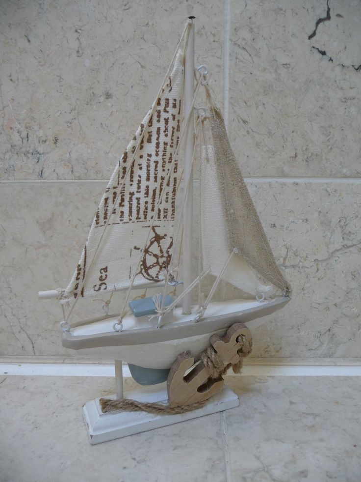 Seaside nautical  shabby chic wooden  sailing boat bathroom ornament  rustic new   View. 17 bedste id er til Bathroom Ornaments p  Pinterest
