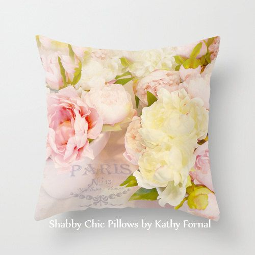 1)Pink and Yellow Peonies Pillow Cover, Peonies Throw Pillow, pillow case from my original fine art photograph.  2)This pillow case is imprinted with