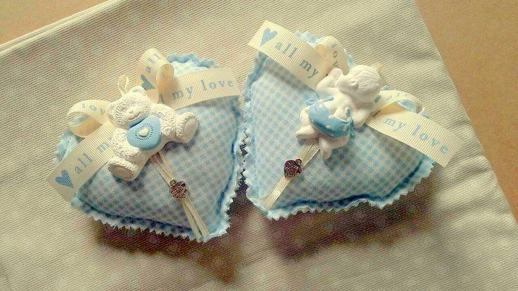 BOMBONIERA cuore stoffa con gessetto profumato e sacchetto confetti, by Creativity Lissy, 6,00 € su misshobby.com