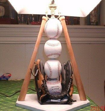 Ultimate Baseball Table Lamp (White Base)