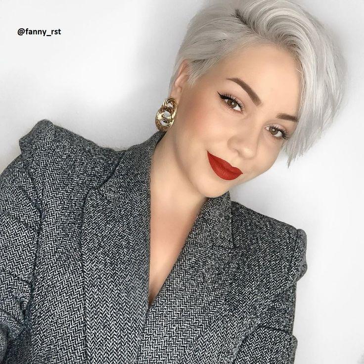 platin blond bei kurzen haaren neue frisuren - frisuren