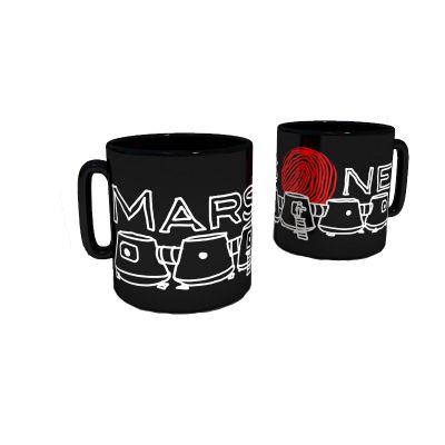 Black Mars One Drawing Coffee Mug