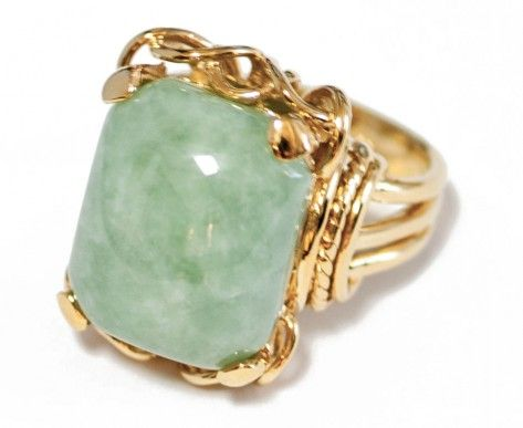 Love this Kira Kira ring!: Jade Belle, Cocktail Rings, Clothes, Beautiful Rings, Beach Things, Gold Jade, Belle Epoque
