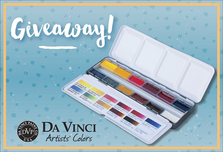 Da Vinci Paint Co. World Watercolor Month Weekly Giveaway 3