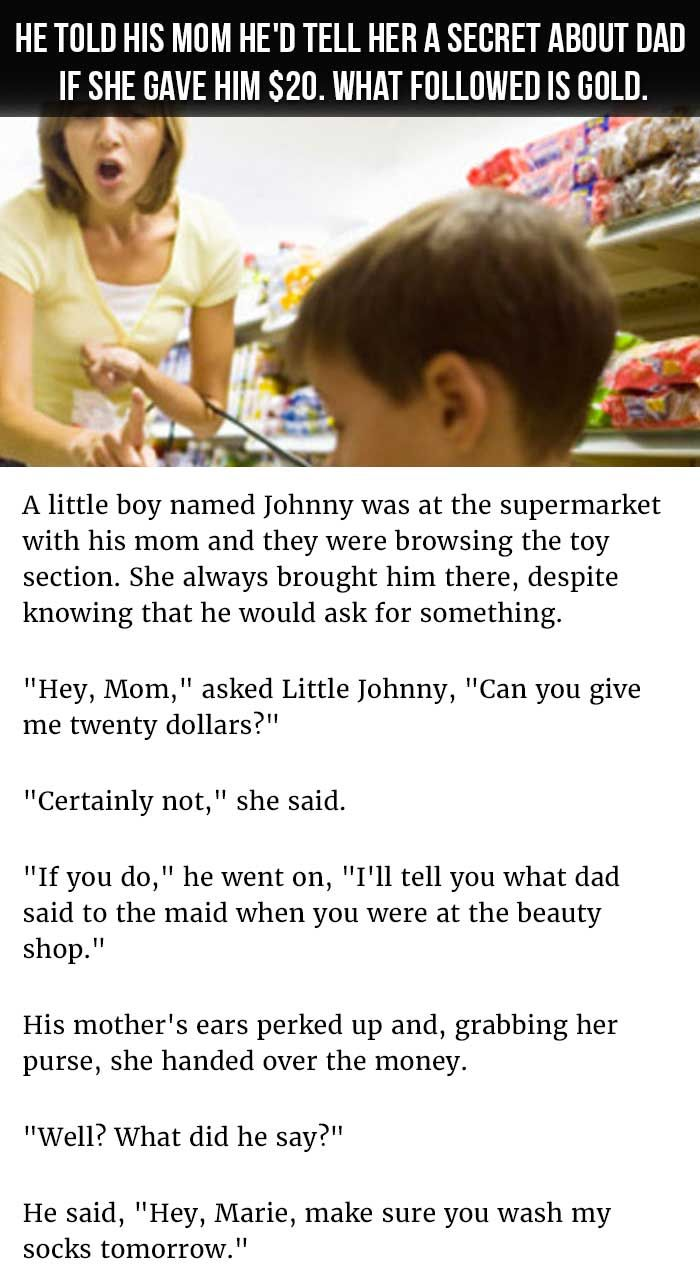 Uncategorized Lil Johnny Jokes 8 best little johnny jokes images on pinterest hilarious funny kid tells mom hed tell her a secret about dad if she gave him
