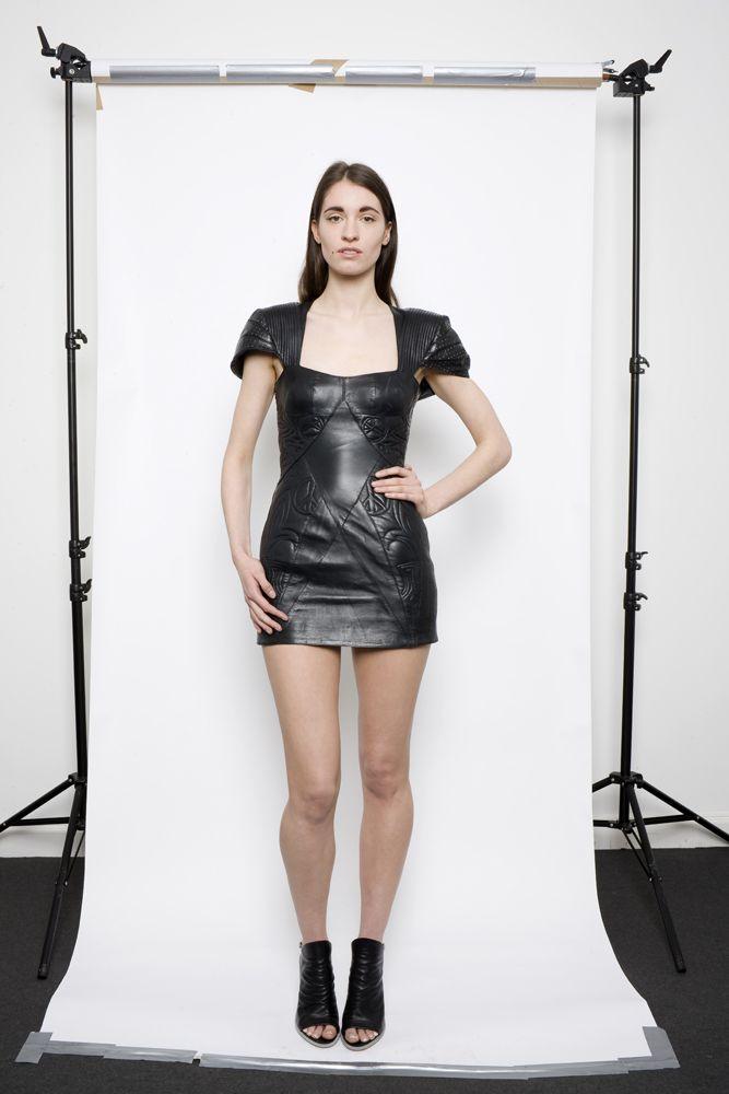 JOANNE HYNES AW10 #leather armour dress