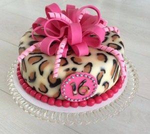 Leopard Imitation Fondant Cake covering 2