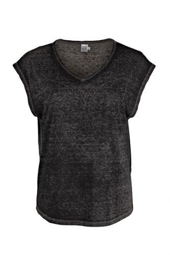 Saint Tropez T-shirt med sommerfugl i nitter Phantom - T-shirts - MaMilla