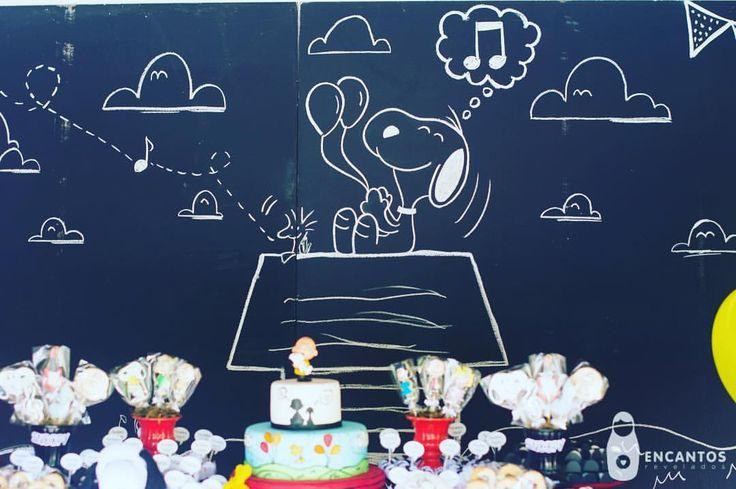 """50 curtidas, 2 comentários - Nath Toledo Festas (@nath_toledo) no Instagram: """"Porque eu amo chalk! detalhes da Festa Snoopy ❤️ click #encantos.revelados #snoopy #peanuts…"""""""