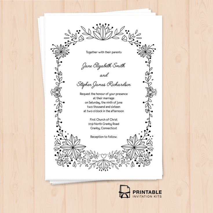 213 best Wedding Invitation Templates (free) images on Pinterest - free engagement invitation templates