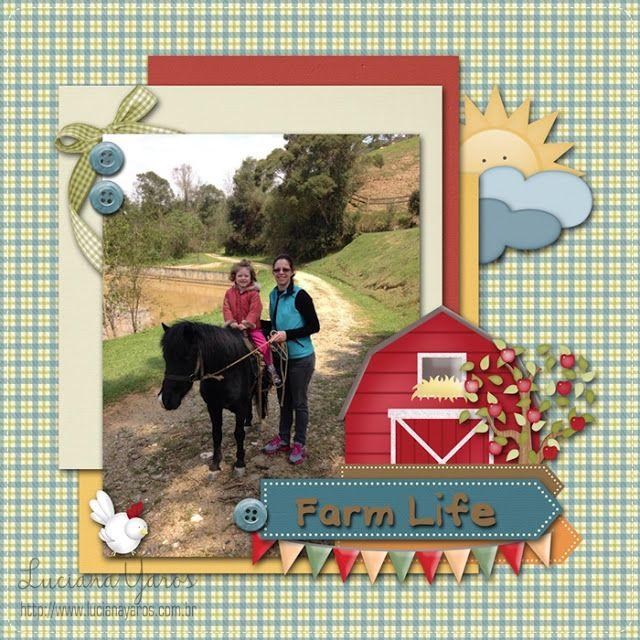 "Luciana Yaros Scrapbooking: Página Digital ""Farm Life"""