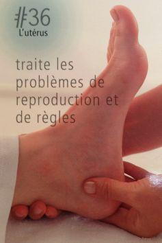 La réflexologie des pieds : L'utérus : Ce point réflexe traite les problèmes de reproduction et de règles