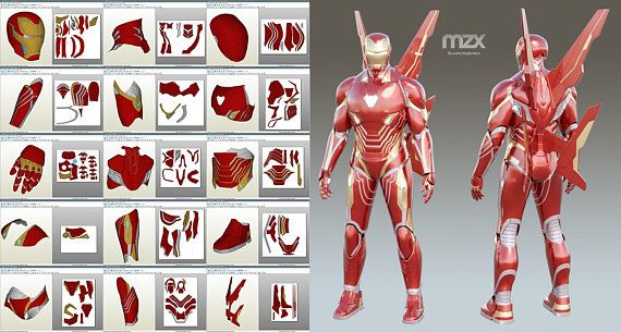 Mark 48 50 Wearable Suit Upd 10 Pepakura Pattern Diy August 18 2018 Traje De Iron Man Mascara De Iron Man Casco De Iron Man