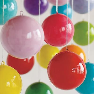 DIY Kid proof ornaments. Paper mache instead of glass!