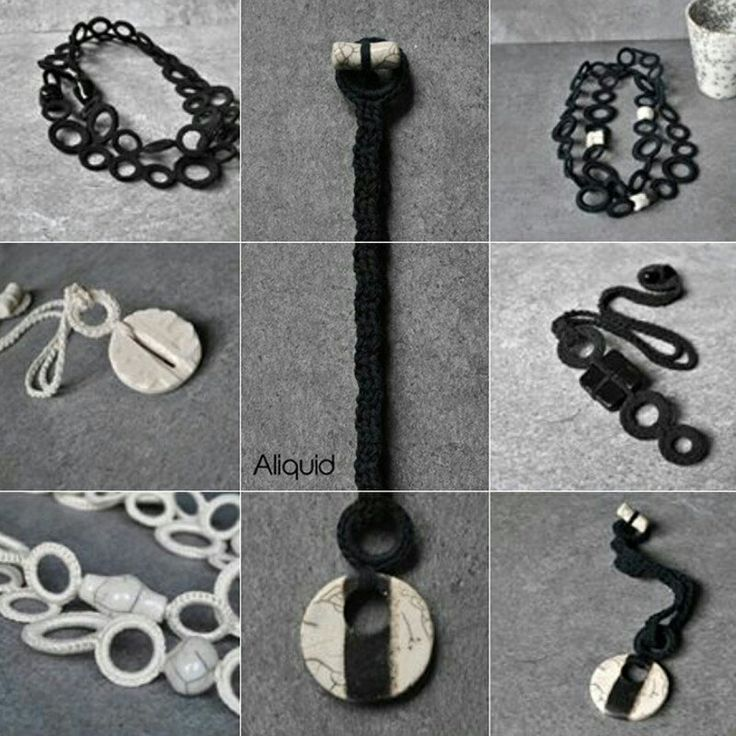 Black and white jewelry by Aliquid