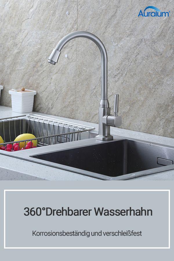 19 99 Auralum 360 Drehbarer Kuchen Wasserhahn Korrosionsbestandig Und Verschleissfest Kuchen Home Decor Decor Sink