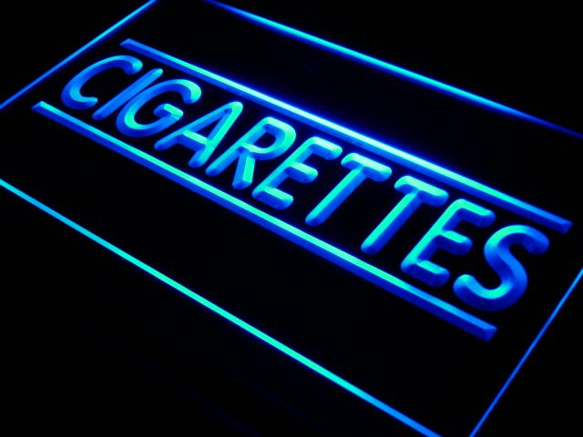 i602 Cigarette Cigars Shop Stores NEW LED Neon Light Sign On/Off Switch 7 Colors